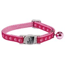 Kitty Two-Tone Pawprint Pet Collar