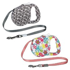 Fashion Print Retractable Dog Lead