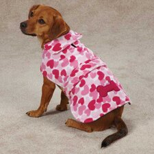 Heart Fleece Dog Jacket