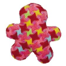 Bright Houndstooth Man Dog Toy