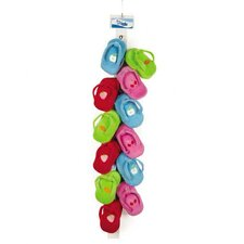Fruit Frenzy Flip-Flop Clip Strip Dog Toy (Set of 12)