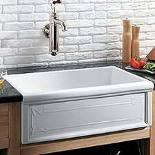 "Luberon 30"" x 19"" Art Nouveau Fireclay Farmhouse Kitchen Sink"