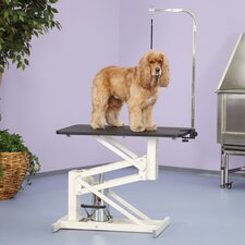 Z-lift Hydraulic Dog Grooming Table in Ivory