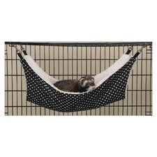 Polka Dot Small Pet Cage Hammock in Black and White