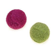 Knit Rattle Ball Canister Cat Toy (45 Pieces)