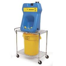 Eye Wash Protable 20 Gallon Less Fluid Collection Bucket and Cart