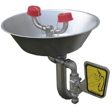 Eyesaver Eye / Face Wash with Stainless Steel Bowl, Dual Spray Heads and Flip Top Dust Covers