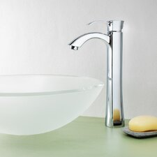 Jordan Single Lever Deck Mount Vessel Faucet with Pop-Up Drain