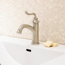 Rega Single Lever Deck Mount Bathroom Faucet with Drain Assembly