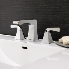 Trave Double Handle Widespread Bathroom Faucet with Drain Assembly