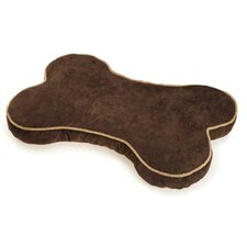 Suede Bone Dog Bed