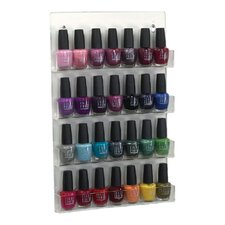 Acrylic Nail Polish Display in Clear