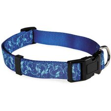 Water Ways Scroll Dog Collar