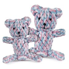 Rope Bear Dog Toy in Pink