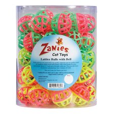 <strong>Zanies</strong> Lattice Balls Cat Toy Canister (50 Pieces)
