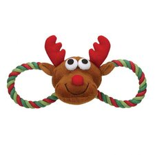 Holiday Hug Tug Dog Toy