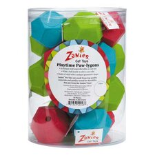 <strong>Zanies</strong> Playtime Paw-lygon Cat Toy Canister (Set of 18)