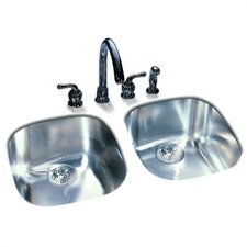 "16"" x 14.75"" Undermount Kitchen Sink"