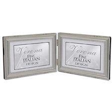 Hinged Double Horizontal Picture Frame with Beading