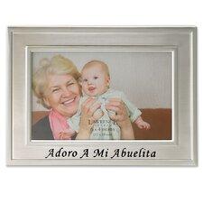 Spanish Sentiments Adoro A Mi Abuelita Picture Frame