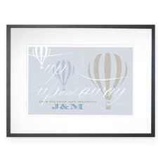 Personalized Up, Up and Away Framed Graphic Art