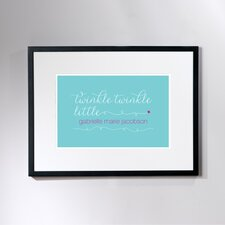 Personalized Twinkle Framed Art