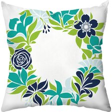 Flower Garland Throw Pillow