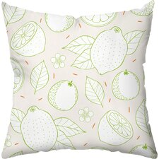 Citrus Stripes Throw Pillow