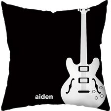 Rock Star Personalized Throw Pillow