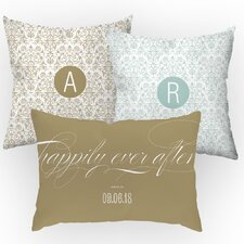 3 Piece Personalized Happily Ever After Throw Pillow Set