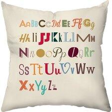 Alphabet Medley Throw Pillow