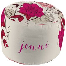 Funky Floral Personalized Pouf