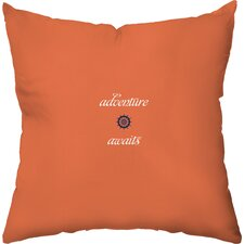 Adventure Awaits Outdoor Throw Pillow