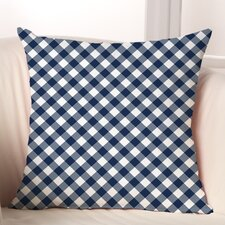Gingham Polyester Throw Pillow