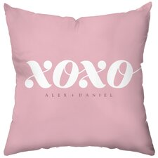 <strong>Checkerboard, Ltd</strong> Personalized XOXO Poly Cotton Throw Pillow