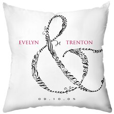 <strong>Checkerboard, Ltd</strong> Personalized Entwined Polyester Throw Pillow