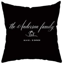 Personalized Established Synthetic Throw Pillow