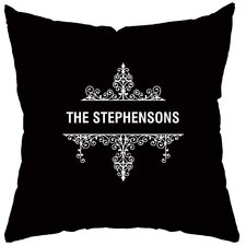 <strong>Checkerboard, Ltd</strong> Personalized Créme de la Créme Polyester Throw Pillow