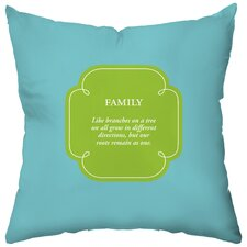 <strong>Checkerboard, Ltd</strong> Personalized Family Tree Synthetic Throw Pillow