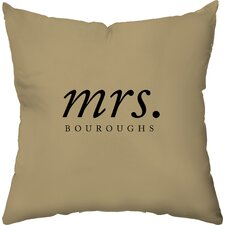 <strong>Checkerboard, Ltd</strong> Personalized Hers Polyester Throw Pillow