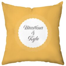 <strong>Checkerboard, Ltd</strong> Personalized Burst Polyester Throw Pillow