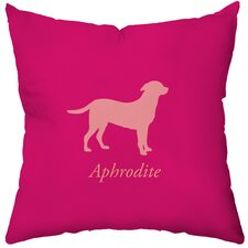 <strong>Checkerboard, Ltd</strong> Personalized Labrador Poly Cotton Throw Pillow