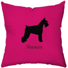 Personalized Schnauzer Poly Cotton Throw Pillow