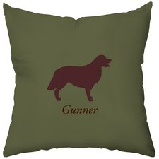 Personalized Golden Retriever Polyester Throw Pillow