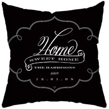 Personalized Brocade Poly Cotton Throw Pillow