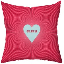 <strong>Checkerboard, Ltd</strong> Personalized Circa Polyester Throw Pillow