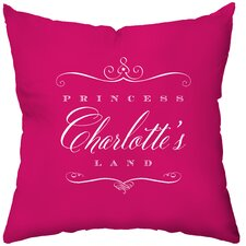 <strong>Checkerboard, Ltd</strong> Personalized Royal Treatment Poly Cotton Throw Pillow