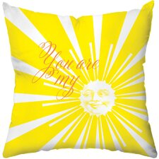 <strong>Checkerboard, Ltd</strong> Sunshine Poly Cotton Throw Pillow