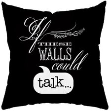 Talking Walls Poly Cotton Throw Pillow
