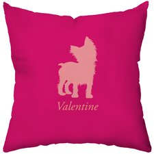 <strong>Checkerboard, Ltd</strong> Personalized Yorkshire Terrier Poly Cotton Throw Pillow